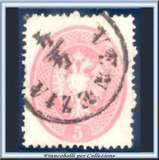 ASI 1863 Lombardo Veneto 5 soldi rosa n. 38 Usato Antichi Stati Italiani