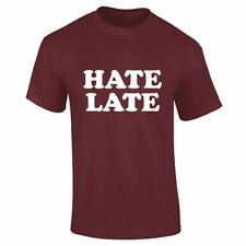 Para Hombre odio tarde Casual Chicos Novedad Lote Impreso Top Camiseta de verano diseñador de cómic