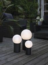 LED Solar Kugel Gartenleuchte Gartenlampe  Kugelform Terrasse Rattan Leuchtkugel