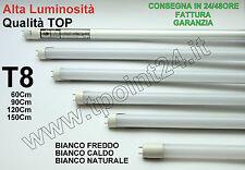 NEON TUBO LED T8 60-90-120-150 CM 6000K 4500K 3000K LUCE FREDDA/CALDA/NATURALE