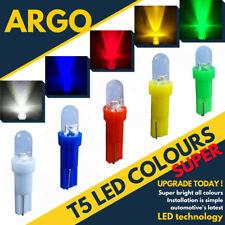 T5 Led White 286 Xenon Red Green Amber Dashboard Speedo Wedge Lights Bulbs 12v
