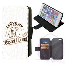 I Love My Basset Hound Flip Phone Case iPhone Galaxy 4 5 6 7 8 9 10 X XR XS Max