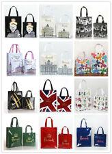 Harrods Women waterproof handbags city scene PVC shopping Storage Shoulder bag