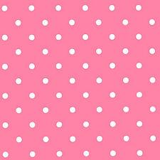 Pink & White Small Polka Dot PVC, Vinyl Wipeclean Tablecloth