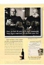 PUBLICITE   1997    SAVOUR CLUB     BOCUSE & TROISGROS