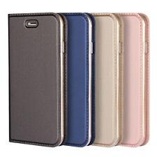 For iPhone X/8 Plus/7 Plus/6s Plus Slim Flip Leather Magnetic Wallet Case Cover