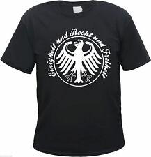 """T-Shirt """" Einigkeit und Recht und Freiheit """" - SCHWARZ -  fans deutschland wm em"""