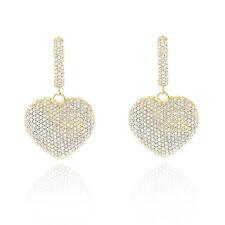 Diamantohrringe Herzen mit 2.50 Karat Diamanten (SI/H) in 585er Gelbgold