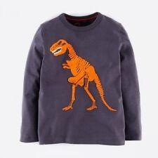 Baby & Boys NEW Ex Mini Boden Superstitch T-Rex T-Shirt Top 2-6y Dinosaur