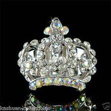 w Swarovski Crystal Queen Royal ~Crown~~ Bridal Wedding Princess Adjustable Ring