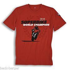 DUCATI Corse Superbike SBK WM Celebration T-Shirt 2011 CHECA limitiert rot NEU !