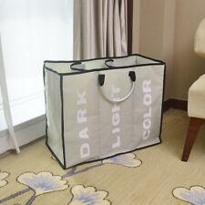 Portable Three Lattice Large Capacity Laundry Basket Toy Storage Light Gray Pc