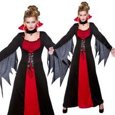 Vampire Femmes Classique Déguisement Halloween Rouge Noir Costume Déguisement