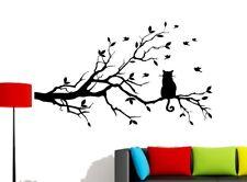 Wandtattoo Wandaufkleber Wandbild  Aufkleber Tattoo Pflanzen Baum Katze