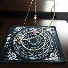 Table Pendulum Chart Triple Moon Pentacle Tarot Card Wicca Altar Props Cute Gift