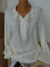 sheego Blouse Shirt Size 42 - 54 Cream Tone Soft Falling (292) NEW