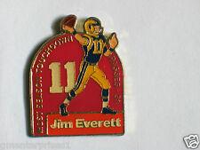 "Vintage Jim Everett Touchdown Record ""31TD Passes"" Lapel Pin"