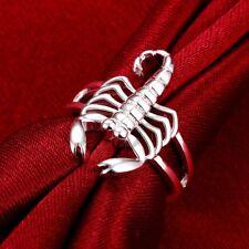 Silver Scorpion Rings Jewelry fashion women lady gift cute Girl size7-8 noble