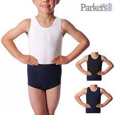 Nuevo Para Hombres Niños Baile Gimnasia Gym Oliver Leotardo Leo 2-10 años de edad S M L