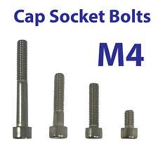 M4 CAP SOCKET BOLT  A4 STAINLESS STEEL SCREW, HEX HEAD ALLEN KEY VARIOUS LENGTHS