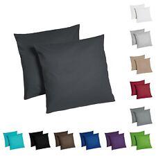 2er Pack Kissenbezug Kissenhülle Microfaser 40x40 40x80 80x80 Uni Einfarbig NEU