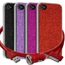 Housse Etui Coque Paillette  pour Apple iPhone 4/4S + chargeur auto + film