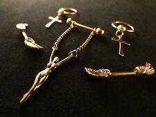 Brustwarzen Piercing 24 Karat Vergoldet Septum Captive Nase Stab Kreuz Frau