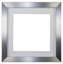 Memory Box 3D Deep Silver Box Frame Range  Picture Photo Frame  - Deep Mount