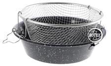 Friggitrice padella acciaio porcellanata porcellana cestello stagnato - Rotex