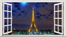 Paris Eiffel Tower Magic Window Wall Smash Wall Art Self Adhesive Vinyl V1*