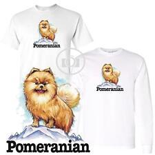 Pomeranian Fun Dog Breed Cartoon Short / Long Sleeve White T Shirt M-3X