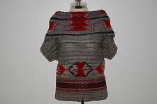 Ralph Lauren Blue Label Viscose & Cotton Southwestern Indian Cowl Neck Sweater