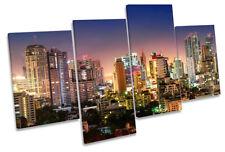 Bangkok Sukhumvit Skyline Picture MULTI CANVAS WALL ART Print