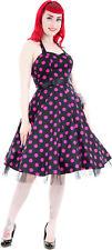 Hearts & Roses POLKA DOTS Punkte Fifties Petticoat Swing KLEID Dress Blk Rockabi