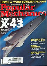 Popular Mechanics  July 2001 - X-43 - NASCAR Pit Stop - Chevy  Impala