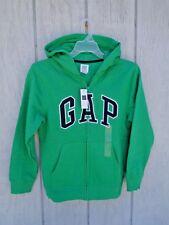 New! Gap Kids Green Hoodie Boys Hooded Jacket M L XL 8 9 10 11 12 Zip Arch Logo