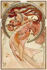 PLAQUE ALU REPRODUISANT UNE OEUVRE  MUCHA ALPHONSE LES ARTS 1898