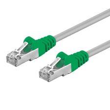 Patch Crossover LAN Netzwerk gekreuztes Kabel geschirmt S-FTP CAT.5e grau