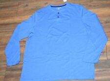Croft & Barrow Long Sleeve T-Shirt Blue Henley shirt Big & Tall Sizes