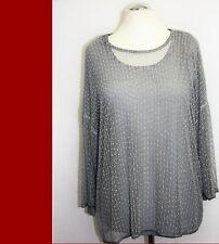 VIA APPIA +  Shirt grau  Doppellook - A-Linie   -  NEU - XXL