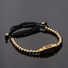 Fashion Braided Macrame Bracelet Hexagonal Zircon Bracelets Mans Women Unisex