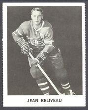 1965 COCA-COLA COKE JEAN BELVEAU MONTREAL CANADIENS HOCKEY CARD