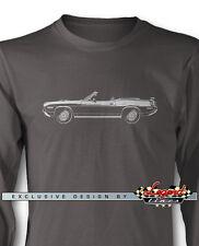 1970 Plymouth 'Cuda HEMI Convertible Long Sleeves T-Shirt - Multi Colors & Sizes