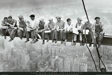90973 EATING ABOVE MANHATTAN MEN ON GIRDER Decor WALL PRINT POSTER FR