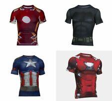 Various Men's Sizes Under Armour Alter Ego Marvel & DC Heroin Compression Shirt