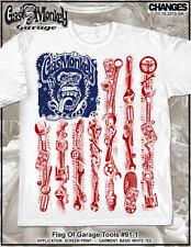 Gas Monkey Garage Flag of Garage Tools Fast N Loud American TV Dallas Shirt 91-1