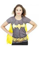 DC BATMAN Sublimated Women's Costume T-Shirt with Removable Cape S-XL