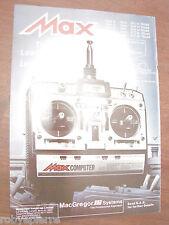 Pubblicità advertising model aircraft macgregor JR systems MAX COMPUTER 7 heli