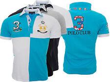 Herren Polo Club Hemd T-Shirt Kurzarmhemd Herrenhemd Sommer Shirt H-043