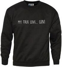 My True Love is GIN -  Mens Sweatshirt